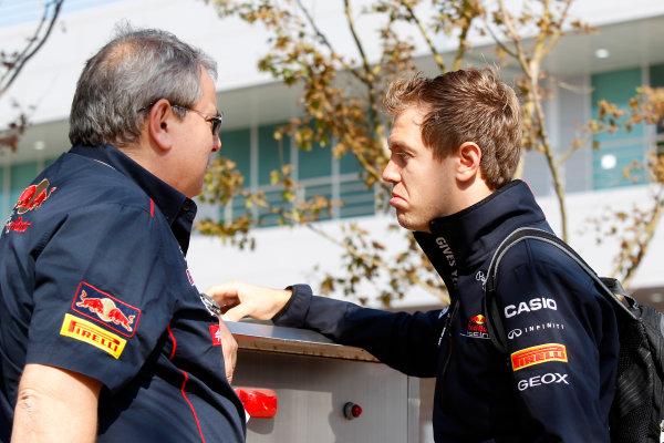 Korea International Circuit, Yeongam-Gun,South Korea.16th October 2011.Sebastian Vettel, Red Bull Racing RB7 Renault. World Copyright:Charles Coates/LAT Photographicref: Digital Image _X5J7276