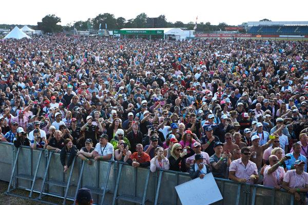 Silverstone, Northamptonshire, England. Sunday 6 July 2014. Huge crowds at the F1 stage. World Copyright: Steve Etherington/LAT Photographic. ref: Digital Image SNE19953