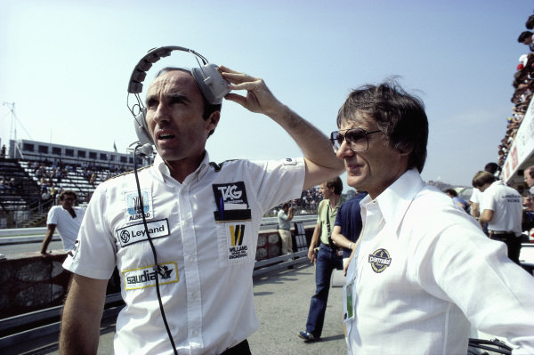 Frank Williams and Bernie Ecclestone.