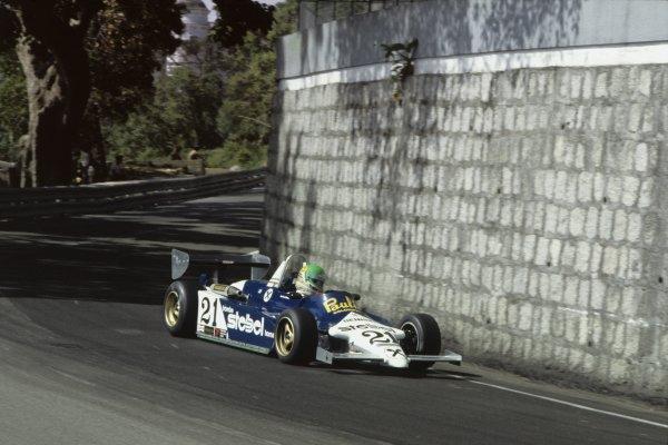 1983 Macau Grand Prix.Circult de Guia, Macau. 17th-20th November 1983.30th Formula Three Race.Gerhard Berger, Ralt-Alfa Romeo RT3, 3rd position, action.World Copyright: LAT Photographic.35mm Colour Transparency.