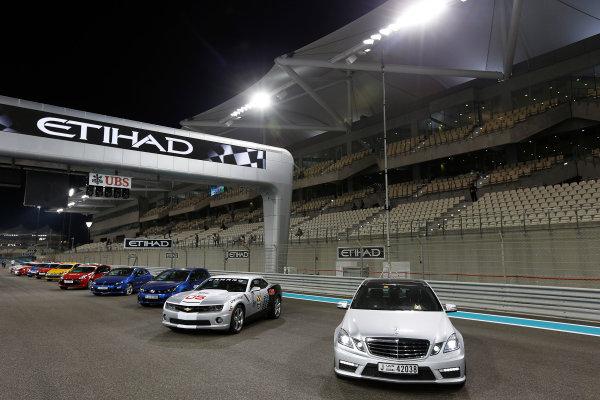 Yas Marina Circuit, Abu Dhabi, United Arab Emirates Saturday 3rd November 2012. Road cars on the start/finish straight. World Copyright:Charles Coates/  ref: Digital Image _N7T4995