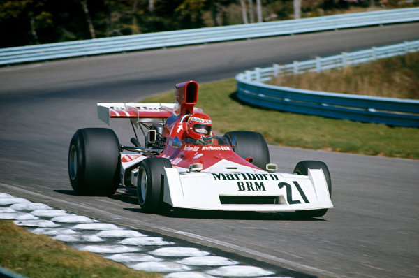1973 United States Grand Prix.  Watkins Glen, New York, USA. 5-7th October 1973.  Niki Lauda, BRM P160E.  Ref: 73USA37. World Copyright: LAT Photographic