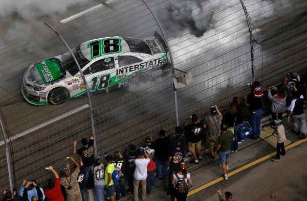 11-13 April, 2013, Fort Worth, Texas, USA Winner Kyle Busch burnout © 2013, Michael L. Levitt LAT Photo USA.