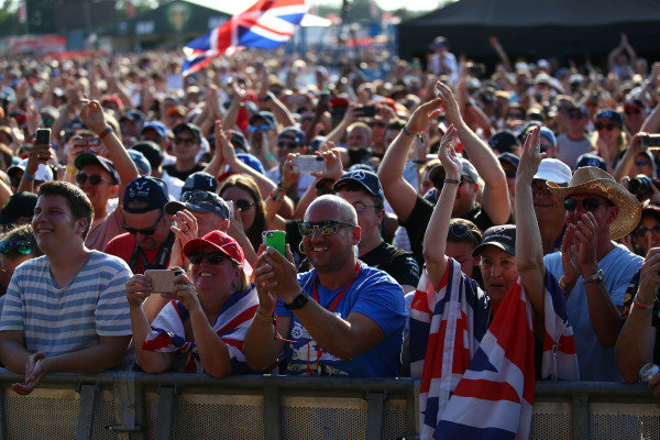 Fans at the Britsh Grand Prix