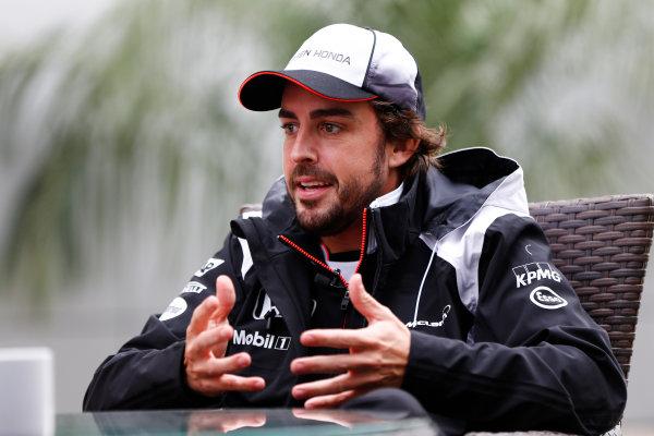 Sochi Autodrom, Sochi, Russia. Friday 29 April 2016. Fernando Alonso, McLaren. World Copyright: Andy Hone/LAT Photographic ref: Digital Image _ONZ7397