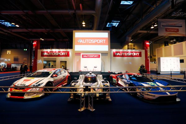Autosport International Exhibition.  National Exhibition Centre, Birmingham, UK. Thursday 14 January 2016.  The Autosport Stage. World Copyright: Zak Mauger/LAT Photographic. ref: Digital Image _L0U0750