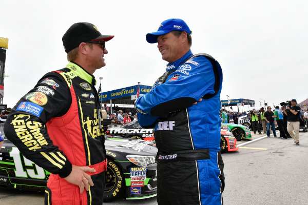 29 April-1 May, 2016, Talladega, Alabama USA  Clint Bowyer, Michael Waltrip ?2016, Logan Whitton  LAT Photo USA