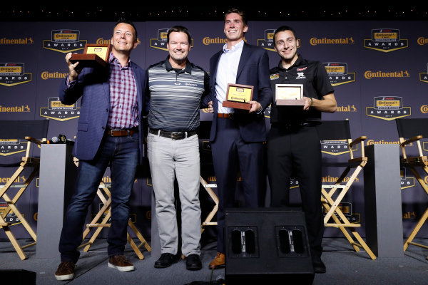IMSA Continental Tire SportsCar Challenge Series Awards Banquet Road Atlanta, Braselton GA Friday 6 October 2017 Eric Foss, Travis Roffler and Dillon MacHavern & Dylan Murcott with Championship ring World Copyright: Michael L. Levitt LAT Images