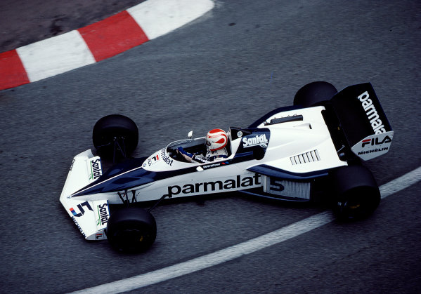 1983 Monaco Grand Prix.Monte Carlo, Monaco.12-15 May 1983.Nelson Piquet (Brabham BT52 BMW) 2nd position.Ref-83 MON 47.World Copyright - LAT Photographic