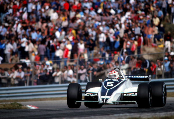 Nelson Piquet (BRA) Brabham BT49C. Formula One World Championship, Rd12, Dutch Grand Prix, Zandvoort, Holland, 30 August 1981.