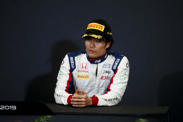 Nobuharu Matsushita (JPN, CARLIN) in the press conference