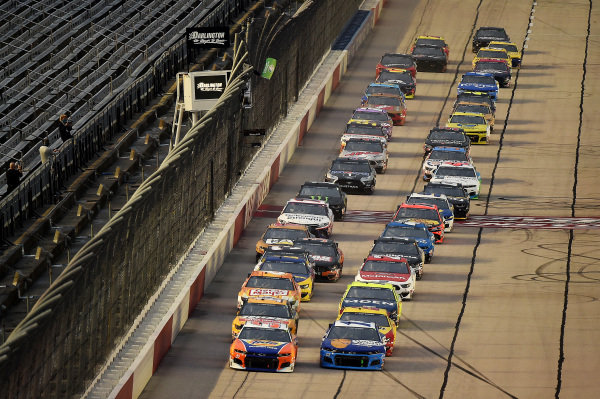 Ryan Preece, JTG Daugherty Racing Chevrolet Tide Power Pods, leads the field to start, Copyright: Jared C. Tilton/Getty Images.