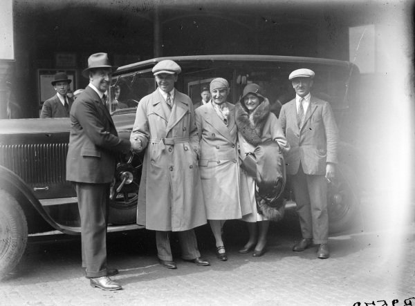 Rudolf Caracciola and his wife, Charlotte, with Czech racing driver Elizabeth Junek.
