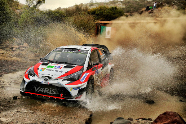 Juho Hanninen (FIN) / Kaj Lindstrom (FIN), Toyota Gazoo Racing Toyota Yaris WRC at World Rally Championship, Rd3, Rally Mexico, Preparations and Shakedown, Leon, Mexico, 8 March 2017.