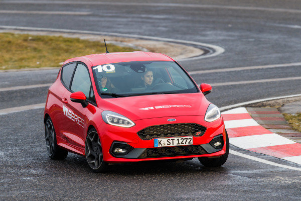 Track action in the Ford Fiesta ST from the drivers selection process