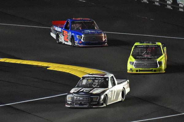 #17: Riley Herbst, Team DGR, Ford F-150 and #88: Matt Crafton, ThorSport Racing, Toyota Tundra Menards