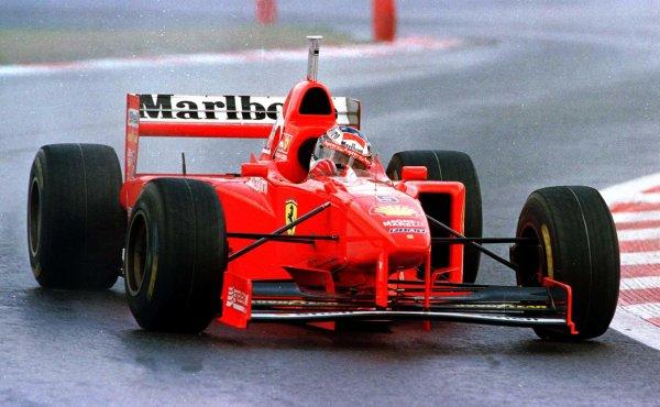 1997 Belgian Grand Prix.Spa-Francorchamps, Belgium.22-24 August 1997.Michael Schumacher (Ferrari F310B) 1st position.World Copyright - Tee/LAT Photographic
