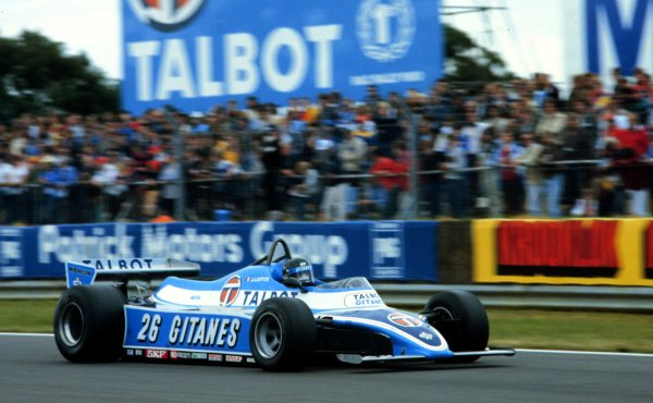 1981 British Grand Prix.Silverstone, England.16-18 July 1981.Jacques Laffite (Talbot Ligier JS17 Matra) 3rd position.World Copyright - LAT Photographic