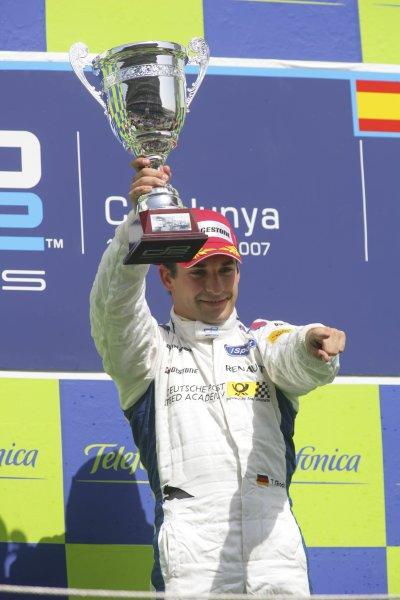 2007 GP2 Series. Round 2. Sunday RaceBarcelona, Spain. 13th May 2007. Timo Glock (GER, iSport International).World Copyright: Andrew Ferraro/GP2 Series Media Sevice  ref: Digital Image ZP9O7171