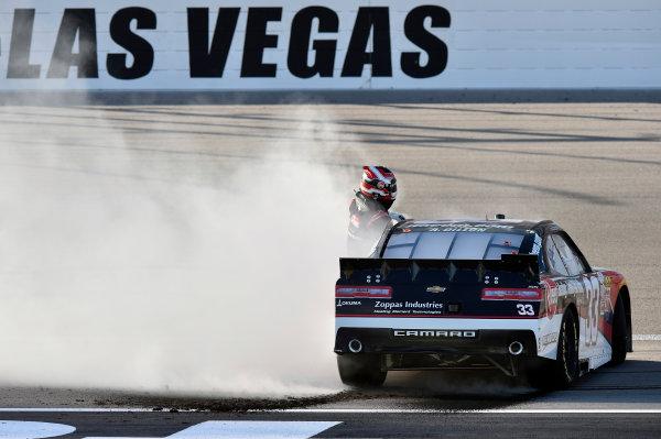 6-7 March 2015, Las Vegas, Nevada USA Austin Dillon celebrates his win ? 2015, Nigel Kinrade LAT Photo USA