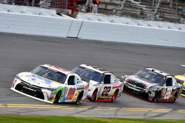 20-21 February, 2015, Daytona Beach, Florida USA Erik Jones, Game Stop Toyota Camry and Brad Keselowski ? 2015, Nigel Kinrade LAT Photo USA