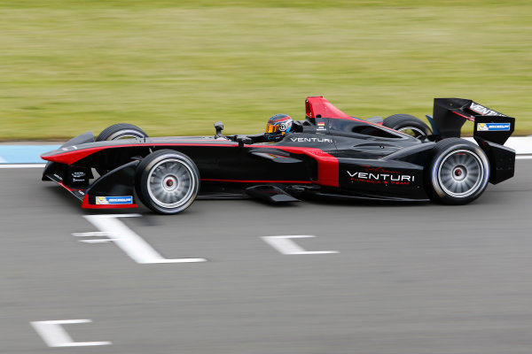 FIA Formula E Test Day, Donington Park, UK.  3rd - 4th July 2014.  Nick Heidfeld, Venturi Grand Prix. Photo: Zak Mauger/FIA Formula E ref: Digital Image _L0U4671