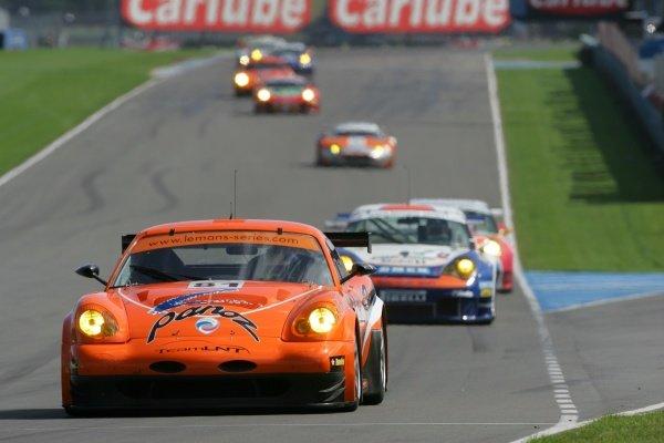 Warren Hughes (GBR) / Robert Bell (GBR) Team LNT Panoz Esperante GTLM.Le Mans Series, Rd4, Donington Park, England, 28 August 2006.DIGITAL IMAGE