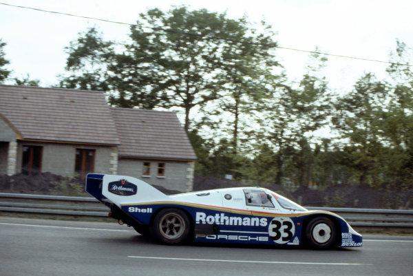 1983 Le Mans 24 hours.Le Mans, France. 18-19 June 1983.Jurgen Barth (Porsche 956) in practice.World Copyright: LAT Photographic. Ref: 83LM19.