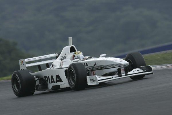 2005 Formula Nippon Championship.Round 7, Fuji Speedway, Japan. 28th August 2005Race winnner Andre Lotterer (PIAA Nakajima) 1st. Action.World Copyright: Yasushi Ishihara / LAT Photographicref: Digital Image Only