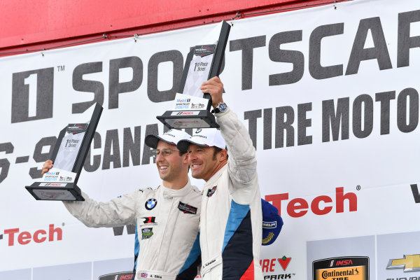 IMSA WeatherTech SportsCar Championship Mobil 1 SportsCar Grand Prix Canadian Tire Motorsport Park Bowmanville, ON CAN Sunday 9 July 2017 25, BMW, BMW M6, GTLM, Bill Auberlen, Alexander Sims World Copyright: Richard Dole/LAT Images ref: Digital Image DOLE_CTMP_17_001417
