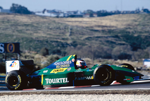 1994 Portuguese Grand Prix. Estoril, Portugal.  23-25 September 1994. Yannick Dalmas (Larousse LH94 Ford). Ref-94 POR 13. World Copyright - LAT Photographic