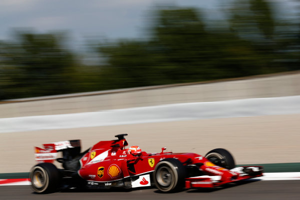 Circuit de Catalunya, Barcelona, Spain. Wednesday 14 May 2014. Kimi Raikkonen, Ferrari F14T. World Copyright: Sam Bloxham/LAT Photographic. ref: Digital Image _SBL0589