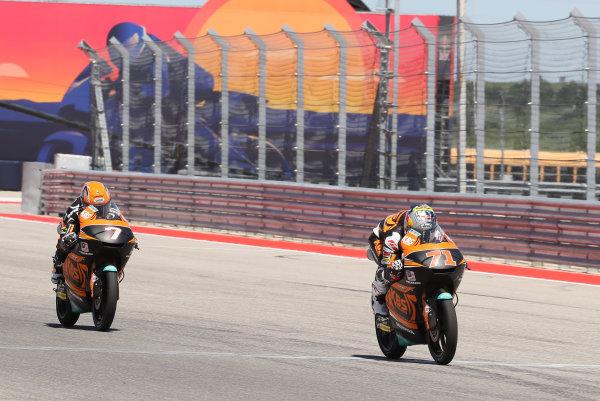 2017 Moto3 Championship - Round 3 Circuit of the Americas, Austin, Texas, USA Sunday 23 April 2017 Ayumu Sasaki, SIC Racing Team, Adam Norrodin, SIC Racing Team World Copyright: Gold and Goose Photography/LAT Images ref: Digital Image Moto3-R-500-2714