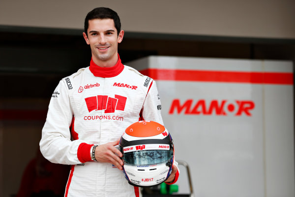 Circuit of the Americas, Austin, Texas, United States of America.  Thursday 22 October 2015. Alexander Rossi, Manor F1, gets presented to the media as the first American F1 driver to race on home soil since 2007. World Copyright: Alastair Staley/LAT Photographic ref: Digital Image _N7T5036