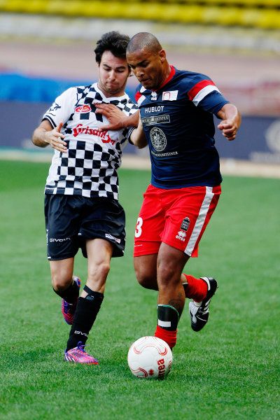 Monte Carlo, Monaco. Tuesday 19 May 2015. Sergio Perez, Force India, at the 22nd World Stars football match. World Copyright: Charles Coates/LAT Photographic. ref: Digital Image _N7T9234