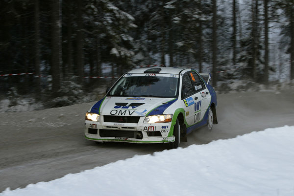 2004 FIA World Rally Champs. Round two, Swedish Rally.5th-8th February 2004.Jarni Paasoen,Mitsubishi, action.World Copyright: McKlein/LAT