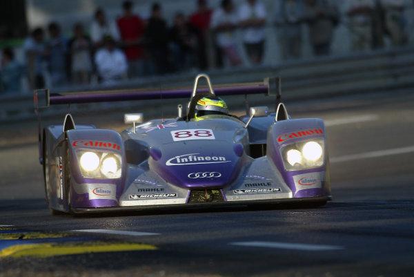 2004 Le Mans 24 Hours.Le Mans, France. 12th-13th June 2004.Davies/Herbert/Smith (Team Veloqx Audi R8) action.World Copyright: John Tingle/LAT Photographicref: Digital Image Only
