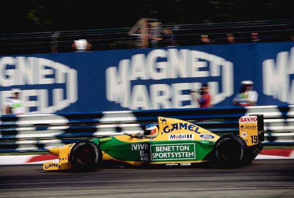 1992 Italian Grand Prix.Monza, Italy. 11-13 September 1992.Michael Schumacher (Benetton B192 Ford) 3rd position.Ref-92 ITA 17.World Copyright - LAT Photographic