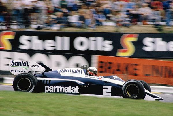 1984 British Grand Prix.Brands Hatch, England.20-22 July 1984.Teo Fabi (Brabham BT53 BMW).Ref-84 GB 44.World Copyright - LAT Photographic