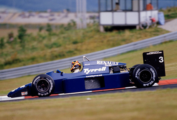 1985 German Grand Prix. Nurburgring, Germany. 2-4 August 1985. Stefan Bellof (Tyrrell 014 Renault) 8th position. Ref-85 GER 32. World Copyright - LAT Photographic