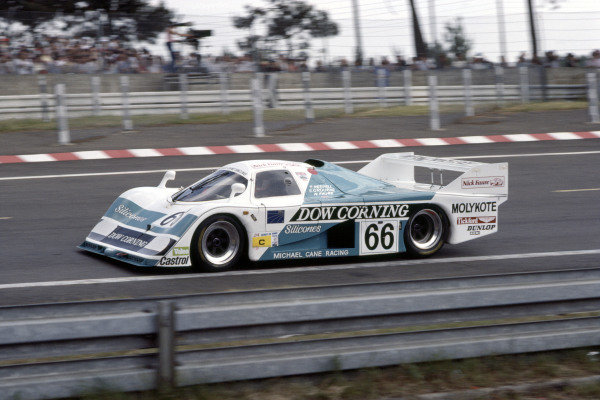 1985 Le Mans 24 HoursLe Mans, France. 15th - 16th June.Tiff Needell/Steve O'Rourke/Nick Faure (EMKA-Aston Martin), 11th position.World Copyright: Murenbeeld/LAT Photographicref: 35mm Transparency Image