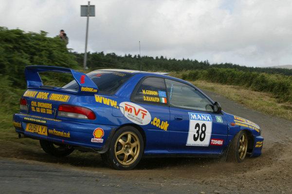 Dermot Hanafin/Mike Gibson. Manx International Rally. July 31st - August 2nd 2003. World copyright Jakob Ebrey/Lat Photographic.