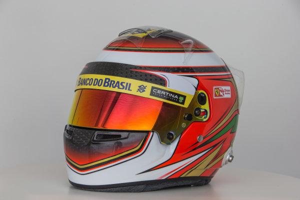 Hinwil, Switzerland. Thursday 29 January 2015. Helmet of Raffaele Marciello, Test and Reserve Driver, Sauber.  World Copyright: Sauber F1 Team (Copyright Free FOR EDITORIAL USE ONLY) ref: Digital Image 2015_SAUBER_HELMET_17