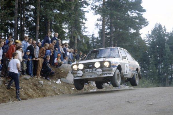 1981 World Rally Championship.1000 Lakes Rally, Finland. 28-30 August 1981.Ari Vatanen/David Richards (Ford Escort RS1800), 1st position.World Copyright: LAT PhotographicRef: 35mm transparency 81RALLY05