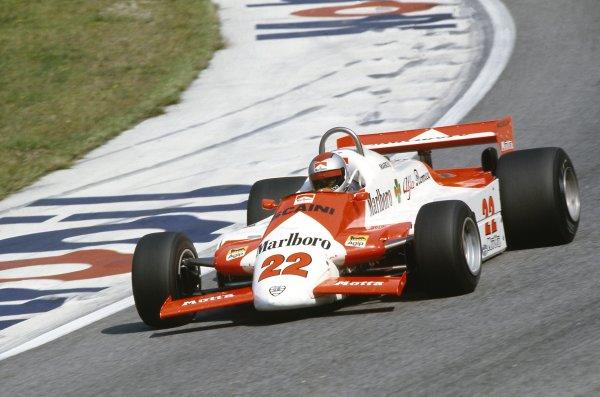 1981 Austrian Grand Prix.Osterreichring, Austria. 14-16 August 1981.Mario Andretti (Alfa Romeo 179C), retired.World Copyright: LAT PhotographicRef: 35mm transparency 81AUT23