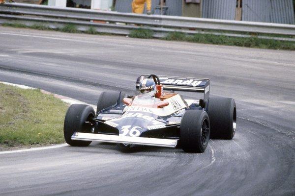 1981 Belgian Grand PrixZolder, Belgium. 15-17 May 1981.Derek Warwick (Toleman TG181-Hart), did not qualify. Ref - 81BEL29.World Copyright - LAT Photographic