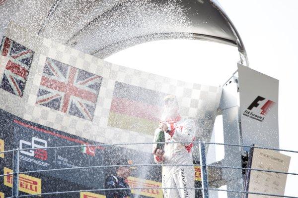 2014 GP3 Series. Round 7.   Autodromo di Monza, Monza, Italy. Sunday 7 September 2014. Alex Lynn (GBR, Carlin) and Dean Stoneman (GBR, Marussia Manor Racing). Photo: Zak Mauger/GP3 Series Media Service. ref: Digital Image IMG_9504