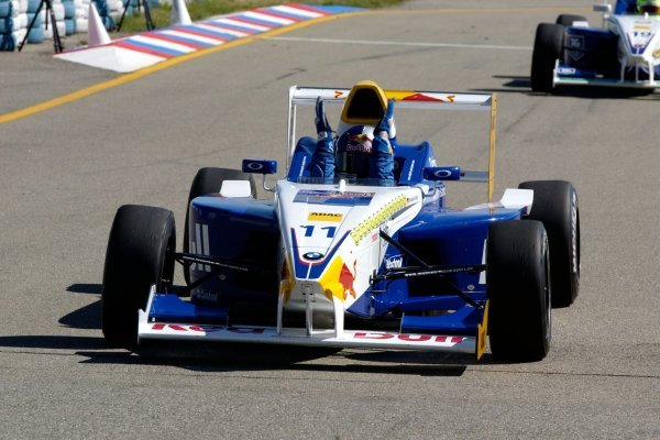2004 Formula BMW ADAC Championship winner Sebastian Vettel (GER), ADAC Berlin Brandenburg e.V. Formula BMW ADAC Championship 2004, Rd 17&18, Brno, Czech Republic. 18 September 2004.  DIGITAL IMAGE