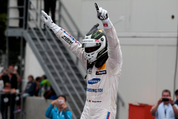 2017 DTM Round 4 Norisring, Nuremburg, Germany Sunday 2 July 2017. Race winner Maxime Martin, BMW Team RBM, BMW M4 DTM World Copyright: Alexander Trienitz/LAT Images ref: Digital Image 2017-DTM-R3-NOR-AT1-3673