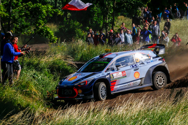 2017 FIA World Rally Championship, Round 08, Rally Poland / June 29 - July 2 2017, Thierry Neuville, Hyundai, action, Worldwide Copyright: McKlein/LAT
